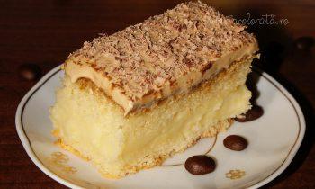 prăjitură cu cremă de vanilie și spumă de ness