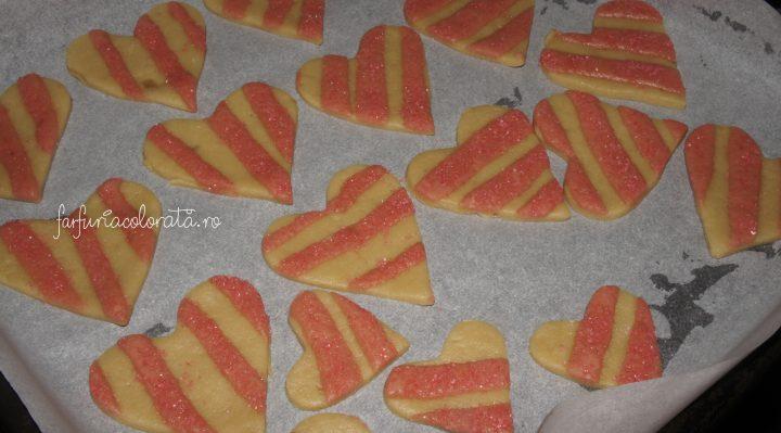 biscuiți în formă de inimă