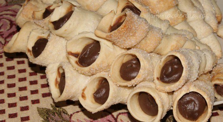 rulouri cu cremă de cacao