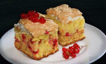 prăjitură cu coacăze roșii și bezea
