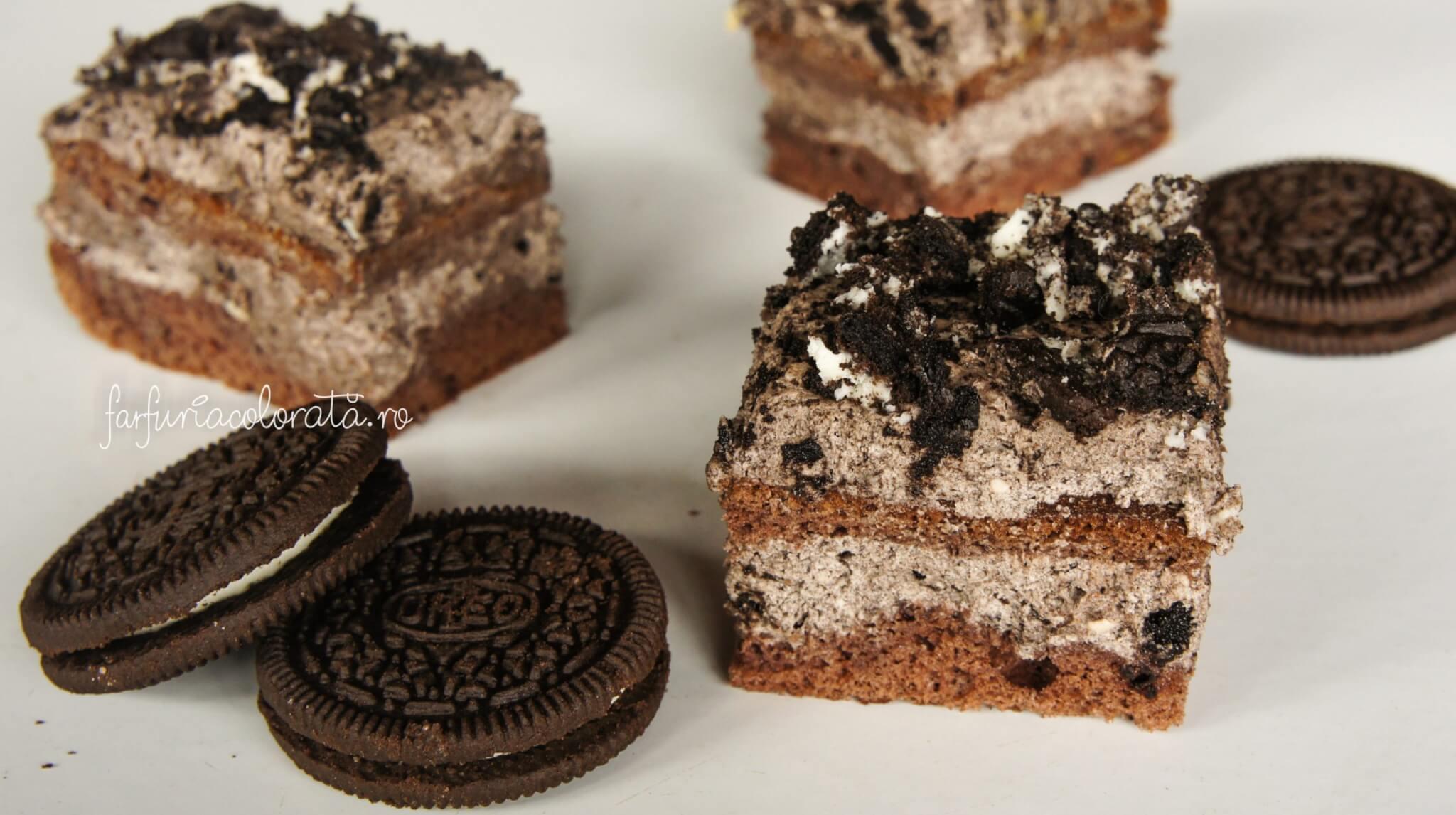 prăjitură cu cremă de biscuiți Oreo